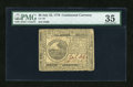 Colonial Notes:Continental Congress Issues, Continental Currency July 22, 1776 $6 PMG Choice Very Fine 35....