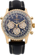 Timepieces:Wristwatch, Breitling Navitimer Rattrapante Etanche Men's Limited Edition Gold Wristwatch, circa 2000. ...