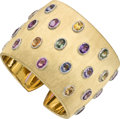 Estate Jewelry:Bracelets, Multi-Colored Sapphire, Gold Bracelet, Buccellati. ...