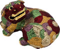 "Estate Jewelry:Purses, Austrian Crystal, Yellow Metal, ""Chinese Foo Dog"" Evening Bag,Judith Leiber. ..."