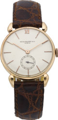 Timepieces:Wristwatch, Patek Philippe Early Rose Gold Men's Wristwatch, circa 1940. ...