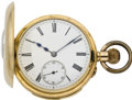 Timepieces:Pocket (pre 1900) , Swiss Minute Repeater Gold Demi-Hunter, circa 1890. ...