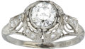 Estate Jewelry:Rings, Edwardian Diamond, Platinum Ring. ...