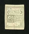 Colonial Notes:Connecticut, Connecticut October 11, 1777 5d Very Choice New, CC....