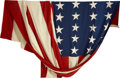 Military & Patriotic:Civil War, Probably the Largest Civil War Period U.S. Flag We've Ever Seen. 11½' on the hoist and 17½' on the fly, 35 stars (West Virgi...