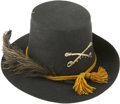 Military & Patriotic:Civil War, About Mint 1858 Pattern Cavalry Hardee Hat. Absolutely no cracks or breaks, just a few very minor, indeed negligible lines. ...