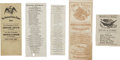Political:Small Paper (1896-present), Collection of Four Abraham Lincoln Electoral Tickets, Distributed During Presidential Campaigns. Includes two examples from ... (Total: 4 Items)