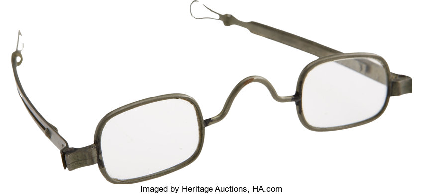 4855099b7c ... Political:Presidential Relics, A Pair of Spectacles that Belonged to  Abraham Lincoln, made ...