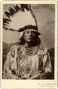 """Photography:Cabinet Photos, Chief Gall Cabinet Card Photograph, 4.25"""" x 6.50"""", ca.1880s...."""