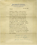 Western Expansion:Cowboy, Annie Oakley's House Sells for $8000, a 1917-Dated Cambridge,Maryland Document....