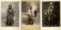 Military & Patriotic:Indian Wars, Three Cabinet Card Photographs of Sioux Indians, circa 1880s. ... (Total: 3 Items)