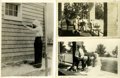 Western Expansion:Cowboy, Annie Oakley, Frank Butler, and their Dog Dave: Three PersonalPhotographs, Ohio, circa 1920s. ... (Total: 3 Items)