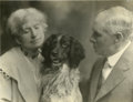 Western Expansion:Cowboy, Annie Oakley, Frank Butler, and their Dog Dave, 1911. ...