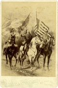 "Western Expansion:Cowboy, Cabinet Card Photograph ""Col W. F. Cody"" by Brisbois, circa1880s-90s. ..."