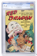"Golden Age (1938-1955):Miscellaneous, Red Dragon Comics #4 Davis Crippen (""D"" Copy) pedigree (Street & Smith, 1948) CGC VF- 7.5 Off-white to white pages...."
