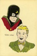Original Comic Art:Sketches, Stan Aschmeier Dr. Mid-Nite and Johnny Thunder Sketch Original Art (undated)....