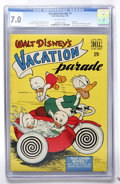 Golden Age (1938-1955):Cartoon Character, Dell Giant Comics - Vacation Parade #1 (Dell, 1950) CGC FN/VF 7.0Off-white pages....