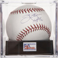 "Autographs:Baseballs, Jim Palmer ""HOF 90"" Single Signed Baseball PSA Gem Mint 10...."