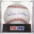 Autographs:Baseballs, Steve Carlton Single Signed Baseball, PSA Mint+ 9.5....
