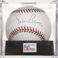 Autographs:Baseballs, Ernie Banks Single Signed Baseball, PSA Mint+ 9.5....
