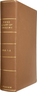 Books:Non-fiction, Colonel W. A. Graham. The Official Record of a Court ofInquiry Convened at Chicago, Illinois, January 13, 1879,b... (Total: 2 Items)