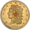 Classic Half Eagles, 1834 $5 Plain 4 MS63 NGC....