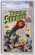 Silver Age (1956-1969):Mystery, House of Secrets #38 (DC, 1960) CGC VF 8.0 Cream to off-whitepages....