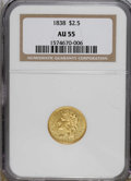 Classic Quarter Eagles, 1838 $2 1/2 AU55 NGC....
