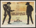 "Movie Posters:Western, Gunfight at the O.K. Corral/Last Train from Gun Hill Combo(Paramount, R-1963). Half Sheet (22"" X 28""). Western. StarringBu..."