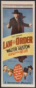 "Movie Posters:Western, Law and Order (Universal, 1932). Insert (14"" X 36""). Western.Starring Walter Huston, Harry Carey, Russell Hopton, Raymond H..."