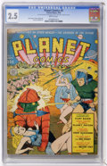 Golden Age (1938-1955):Science Fiction, Planet Comics #8 (Fiction House, 1940) CGC GD+ 2.5 Brittlepages.... (Total: 0)