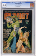 Golden Age (1938-1955):Science Fiction, Planet Comics #36 (Fiction House, 1945) CGC FN- 5.5 Cream tooff-white pages....