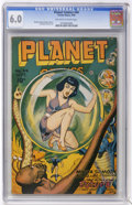 Golden Age (1938-1955):Science Fiction, Planet Comics #44 (Fiction House, 1946) CGC FN 6.0 Off-white towhite pages....