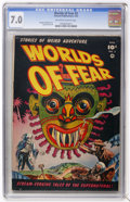 Golden Age (1938-1955):Horror, Worlds of Fear #3 (Fawcett, 1952) CGC FN/VF 7.0 Off-white to whitepages....