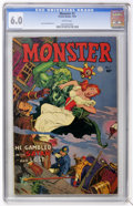 Golden Age (1938-1955):Horror, Monster #1 (Fiction House, 1953) CGC FN 6.0 White pages....