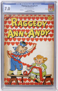 Golden Age (1938-1955):Cartoon Character, Raggedy Ann and Andy #9 File Copy (Dell, 1947) CGC FN/VF 7.0 Creamto off-white pages....