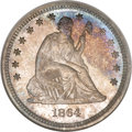 Proof Seated Quarters, 1864 25C PR66 NGC. CAC....
