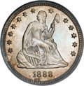Seated Quarters, 1888 25C MS67 PCGS....