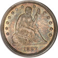 Seated Quarters, 1887 25C MS67 PCGS. CAC....