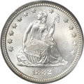 Seated Quarters, 1882 25C MS67 PCGS. CAC....