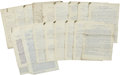 Military & Patriotic:Indian Wars, Military Letters: Typed Copies, circa 1830s-1880s. ... (Total: 24Items)