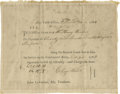 """Military & Patriotic:Revolutionary War, American Revolutionary War Pay Voucher. Printed form on laid paper,6½"""" X 8 1/8"""", filled in with ink script. Dated Decem..."""