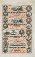 "Miscellaneous:Ephemera, ""Stonington Bank"" Obsolete Currency...."