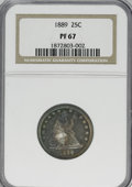 Proof Seated Quarters, 1889 25C PR67 NGC....