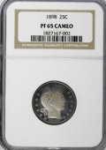 Proof Barber Quarters, 1898 25C PR65 Cameo NGC....