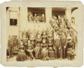 Military & Patriotic:Indian Wars, Imperial Size Photograph of Buffalo Soldiers and Families, circa 1870s-1880s. ...