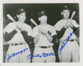 Autographs:Photos, Joe DiMaggio, Mickey Mantle & Ted Williams Signed Photograph....