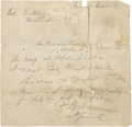 "Autographs:Military Figures, Philip Sheridan, Autograph Letter Signed, ""P. H. Sheridan MGenl""...."