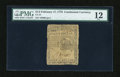 Colonial Notes:Continental Congress Issues, Continental Currency February 17, 1776 $1/2 PMG Fine 12....
