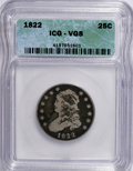 Bust Quarters: , 1822 25C VG8 ICG. NGC Census: (0/72). PCGS Population (4/97). Mintage: 64,080. Numismedia Wsl. Price for NGC/PCGS coin in V...